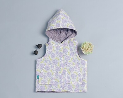 鋪棉戴帽(雙面)背心-訂製 花11-紗vs略厚14