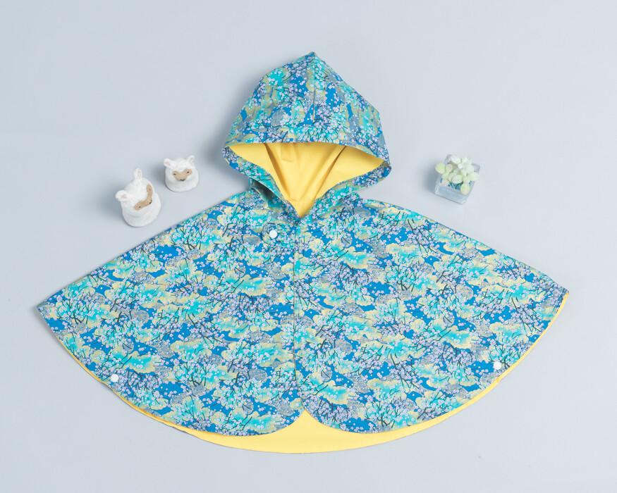 雙面雨衣斗篷-現貨 和風16 90-100cm