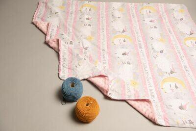 豆豆毯 粉紅綿羊