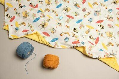 豆豆毯 貓與陽傘