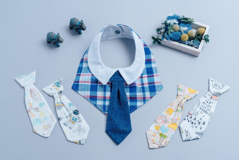 可替換領帶口水巾-現貨 英格藍