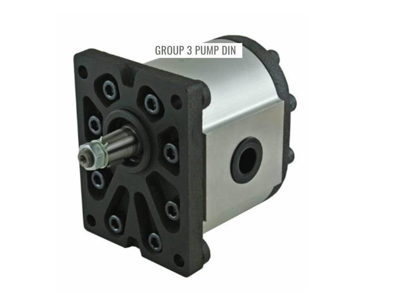 HYDRAULIC GEAR PUMP GRH GROUP 3 DIN MOUNT TAPERED SHAFT  VARIOUS CC's