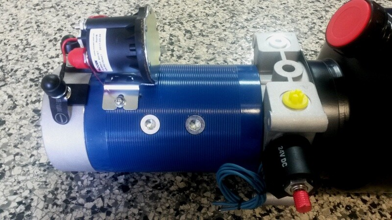 Hydraulic Power Pack 12-24V DC 9 Lt/min 3000 PSI  HIGH POWER P&T / Single Acting / Double Acting