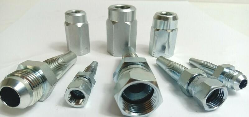 JIC Reusable Hydraulic Hose Fittings 7/16