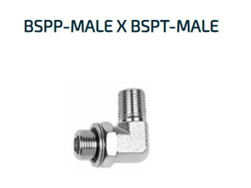 BSPP x  BSPT Elbow 90° Adapters Male x Male