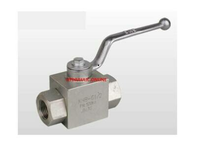 High Pressure Hydraulic Ball Valve 500 Bar 7350 PSI BSPP Ports sizes 1/4