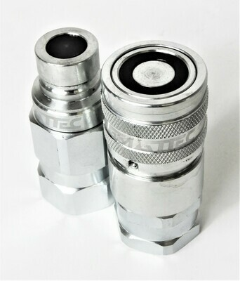 Flat Face Hydraulic Couplers 1/2