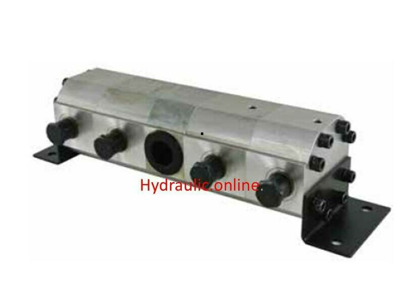 HYDRAULIC FLOW DIVIDER AND COMBINER TWIN CYLINDER SYNCHRONISER 4 WAY