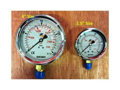Hydraulic Pressure Gauge 10BAR to 700BAR 4