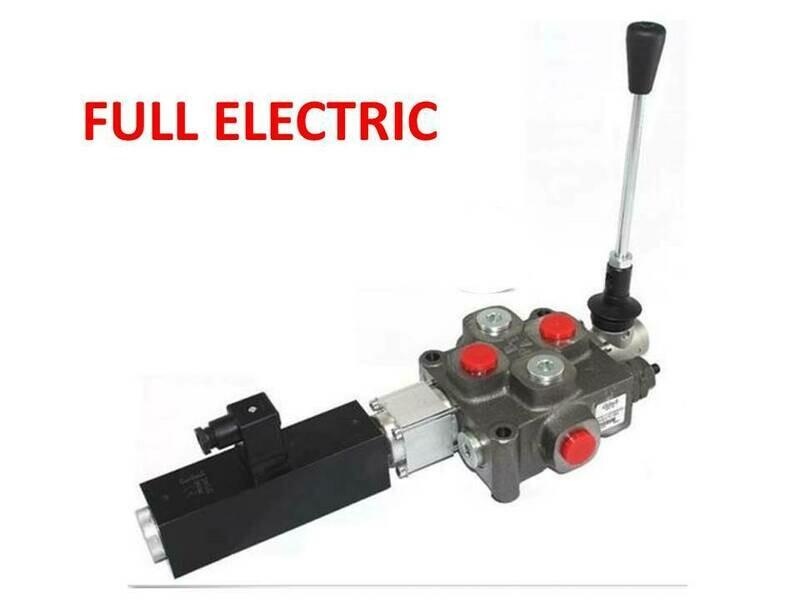 GALTECH Q75  ITALIAN Flow Control Valve  1-Spool 80 LPM FULL ELECTRIC