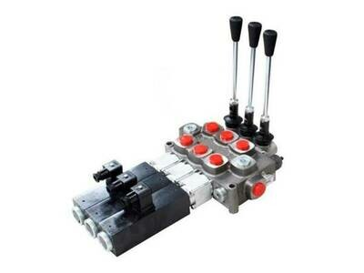 GALTECH Q75  ITALIAN Flow Control Valve  3-Spool 80 LPM FULL ELECTRIC