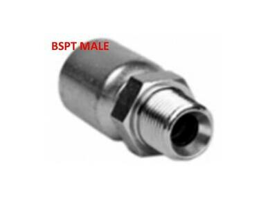 BSPT Male Crimp on Hydraulic Hose Fitting
