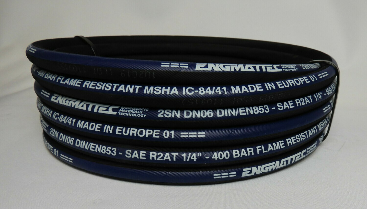 """#4 100R2AT New Two Wire Hydraulic Hose 100ft 1//4/"""""""