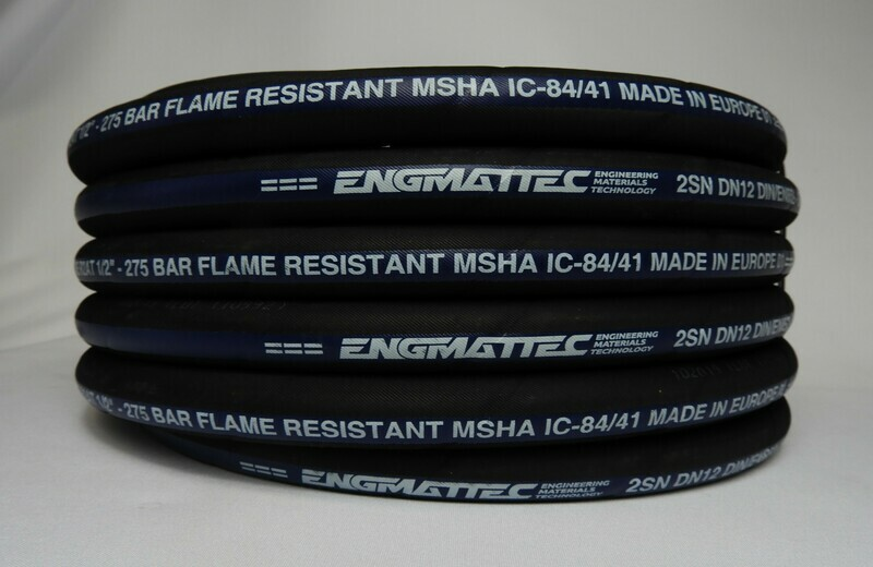 "2SN Hydraulic Hose X 50M Coil 100R2AT-08-50 1//2/""   ID SAE 100R2AT"