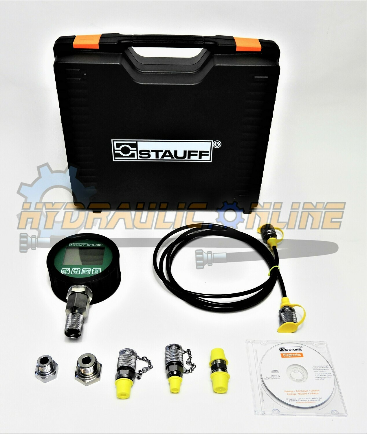 STAUFF Digital Pressure Test Kit 8,800 PSI 2M Test Hose.