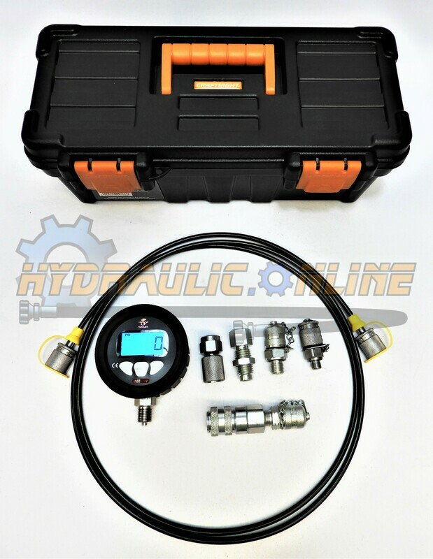 Digital Hydraulic Pressure Test Kit 0-700BAR/10,000PSI with Adapters