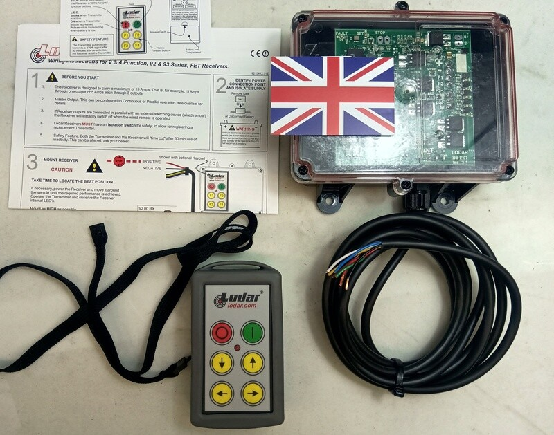 Lodar Radio Remote Control 4 Functions WATER CART