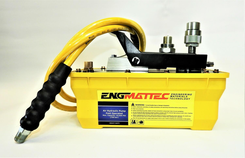 Portable Power Air Driven High Pressure Hydraulic Pump 10000 PSI 2 m Hose & Coupler