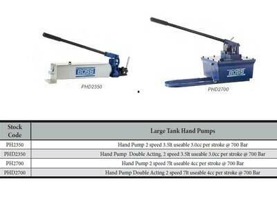 PORTA POWER HEAVY DUTY LARGE HAND PUMPS 10,000PSI 700BAR Two stage pumps