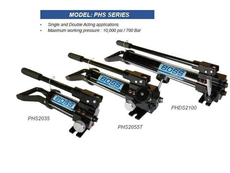 PORTA POWER PORTABLE  HAND PUMPS 10,000PSI 700BAR One & Two stage pumps