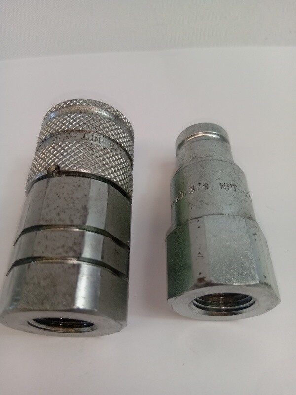 3/8 Flat Face Hydraulic Coupler 3/8  Fem half only