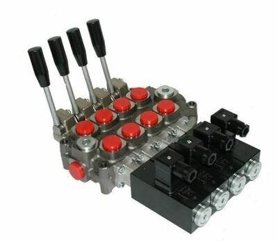 GALTECH Q75  ITALIAN Flow Control Valve  4-Spool 80 LPM FULL ELECTRIC