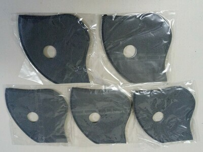 SPARE Filters for Respirator Mask Pack of Five FFP2 N95