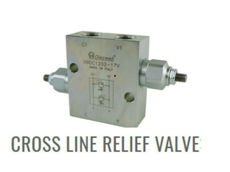 Hydraulic Crossline Pressure Relief Valve