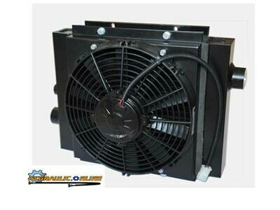 OIL COOLER Various sizes 60-300 Lt / min  12v , 24v  fan