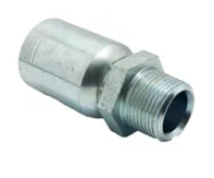 BSP Male Tapered Straight 6000PSI / R15 Multi-Spiral Non-Skive Crimp-On Hose Tails   TAIPAN