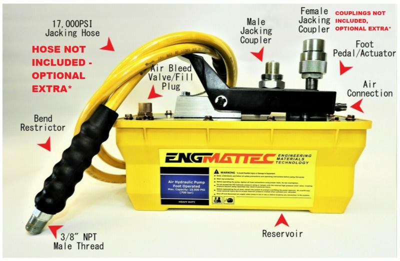 Air Operated Hydraulic High Pressure Pump 10,000 PSI