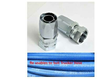 100R5 / TRUCKER REUSABLE HOSE TAILS  JIC / SAE