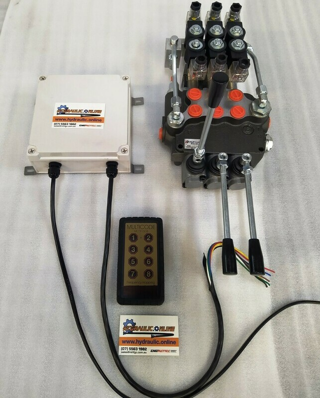 Remote Ctrl Package 3 Spool Electro-Hydraulic Ctrl Valve 80 Lpm