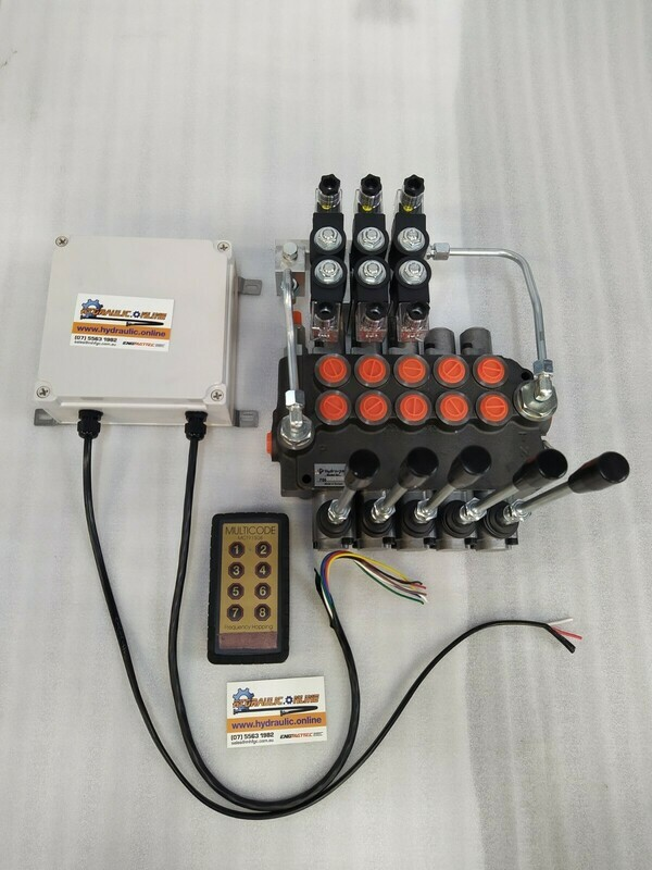 Remote Ctrl Package 5 Spool Electro-Hydraulic Ctrl Valve 80 Lpm