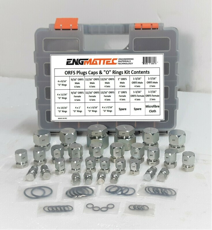 ORFS Plug & Cap Kit 52 Pc  Strong Case + O'Rings