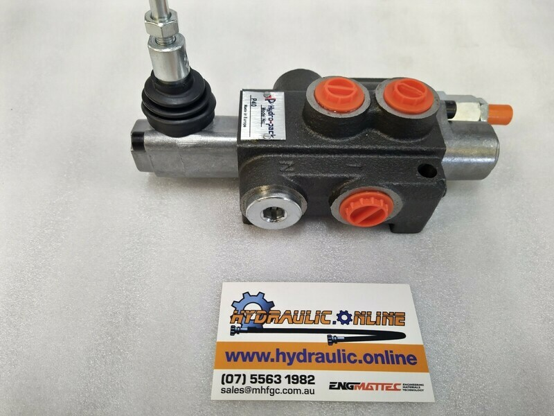 Hydraulic Flow Control Valve  BSP Ports 1 Spool Double Acting 40 Lpm Monoblock valve DCV