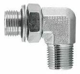 BSP Parallel x BSP Tapered Male x Male 90° Adaptors