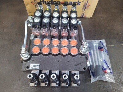 Remote Ctrl Package ALL 5 Spool Electro-Hydraulic Ctrl Valve 80 Lpm