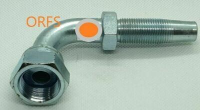 ORFS Reusable Hydraulic Hose Fitting 90° Female