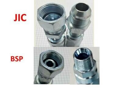 Reusable Hydraulic Hose Fitting Suit 3/4 or 1 inch hose BSP & JIC