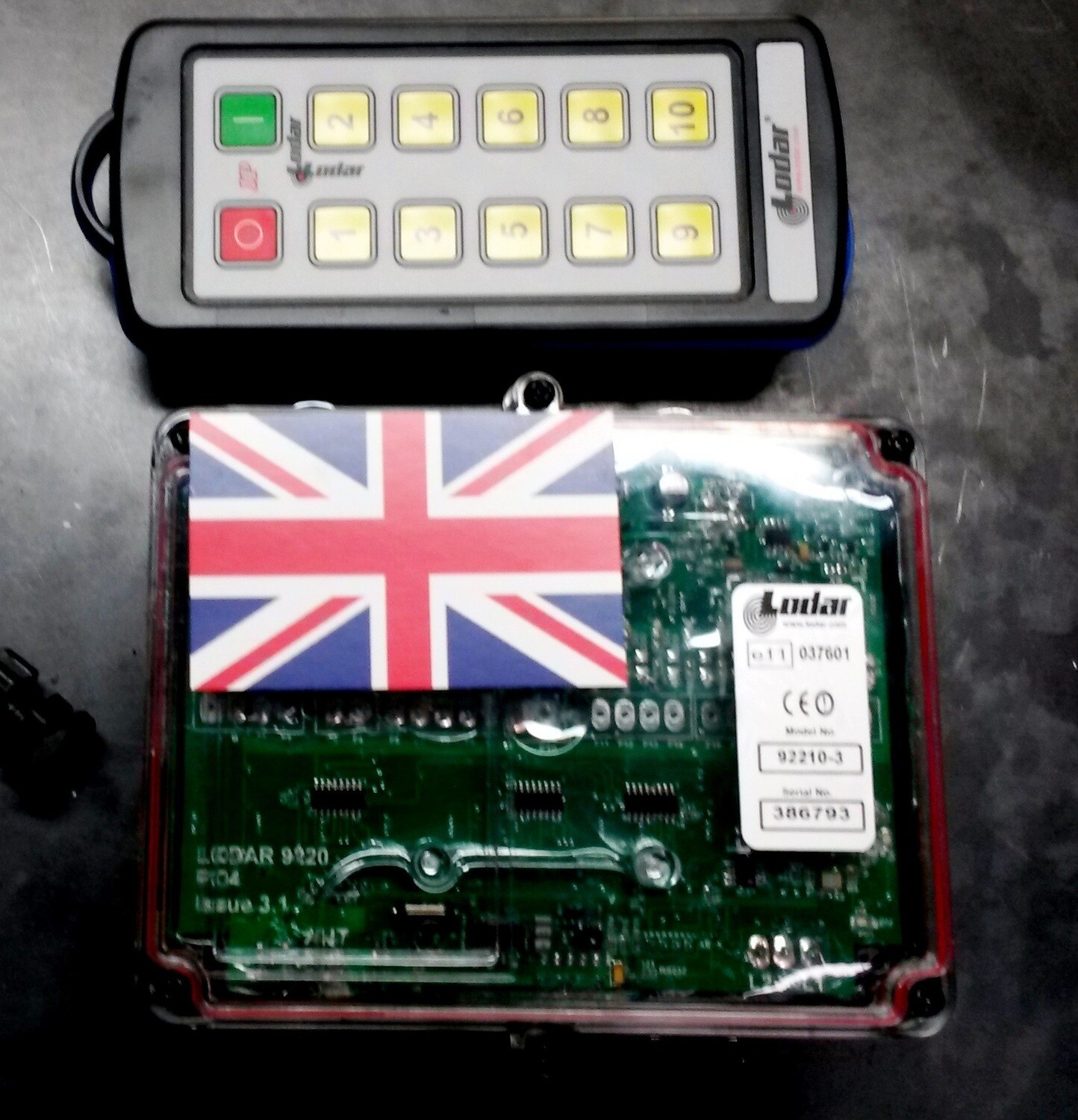 REMOTE CONTROL UNIT FOR HYDRAULIC CONTROL VALVES 10 BUTTON TILT TRAY READY