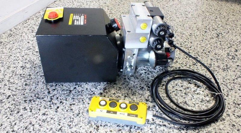Hydraulic Power Pack 12 - 24V DC  2x Dbl Acting 5.0 Lt/Min 2500 PSI