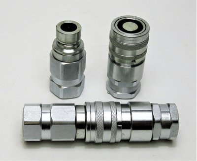 Flat Face Hydraulic Coupler Set 1/2 inch BSPP | Stucchi