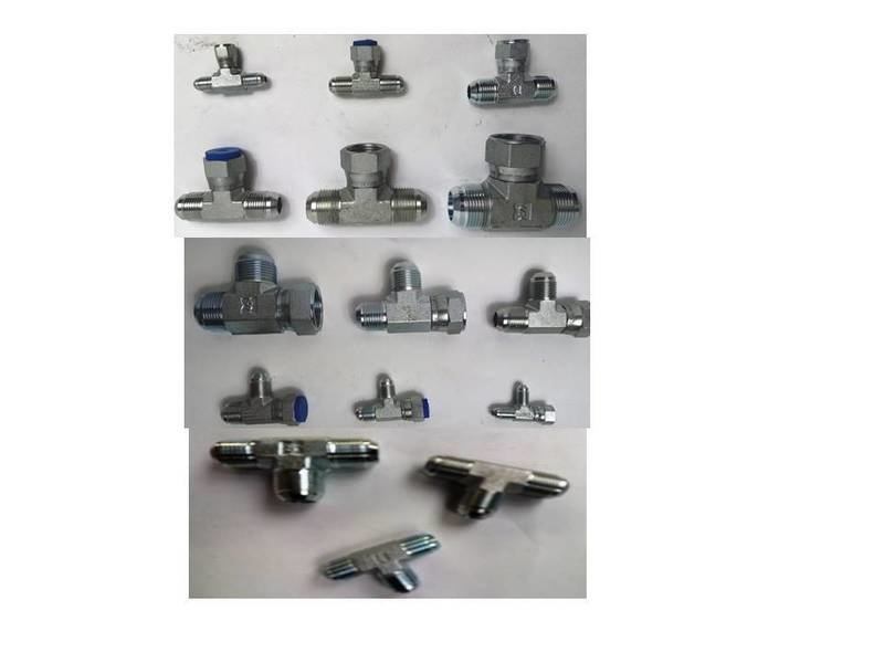 HYDRAULIC TEEs JIC VARIOUS SIZES 7/16