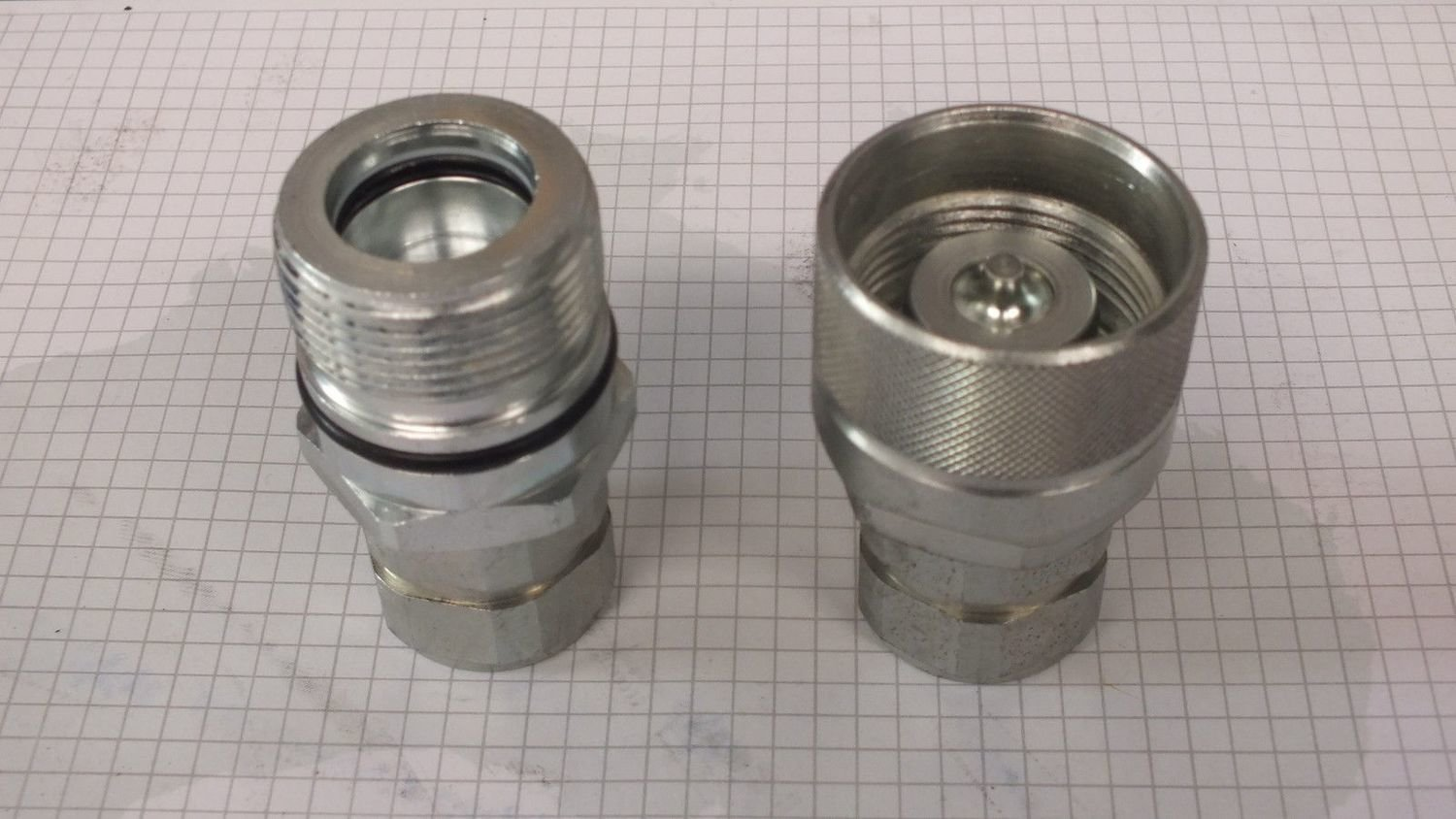 Hydraulic Screw Together Poppet Coupler ISO 14541