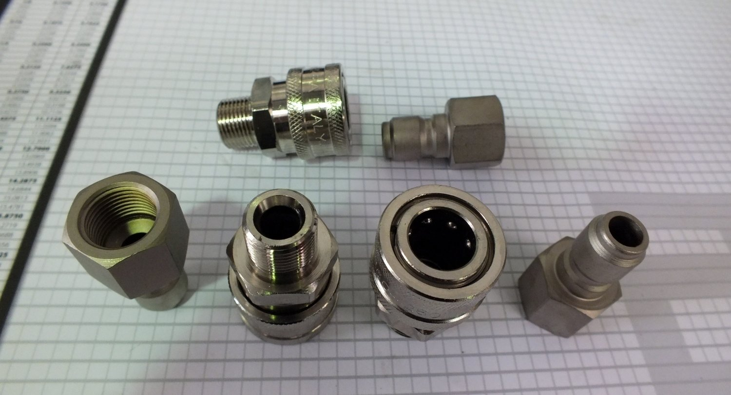 3/8 QUICK CONNECT 4040PSI PRESSURE WASHER FITTINGS MADE IN ITALY 280 Bar SINGLEs
