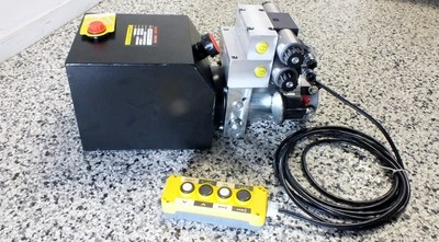 Hydraulic HIGHER Power Pack 12 or 24Volt DC 2.5 KW 2X Dbl Acting 9.0 Lt/Min