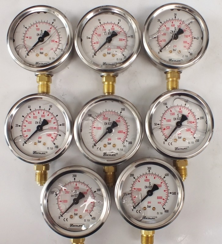 Stainless Steel Precision Pressure Gauge 63mm 2.5