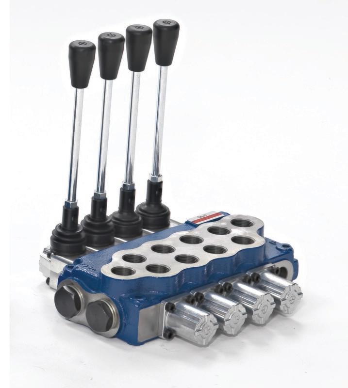 Hydraulic Flow Control 5 Spool Valve 3/8