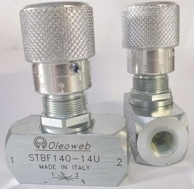 Hydraulic Oil Flow Control Throttle Shutoff Valve  BSPP Ports 400Bar 6000 PSI